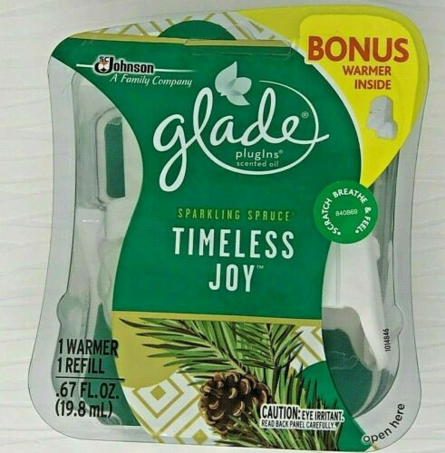 Glade Timeless Joy Sparkling Spruce Scented Oil Refill & Warmer Pack