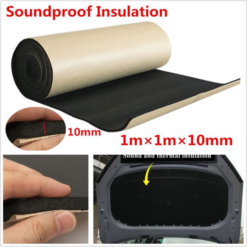 1mX1mX10mm Black Autos Off-Road Acoustic Foam Soundproofing Cotton Mat Universal