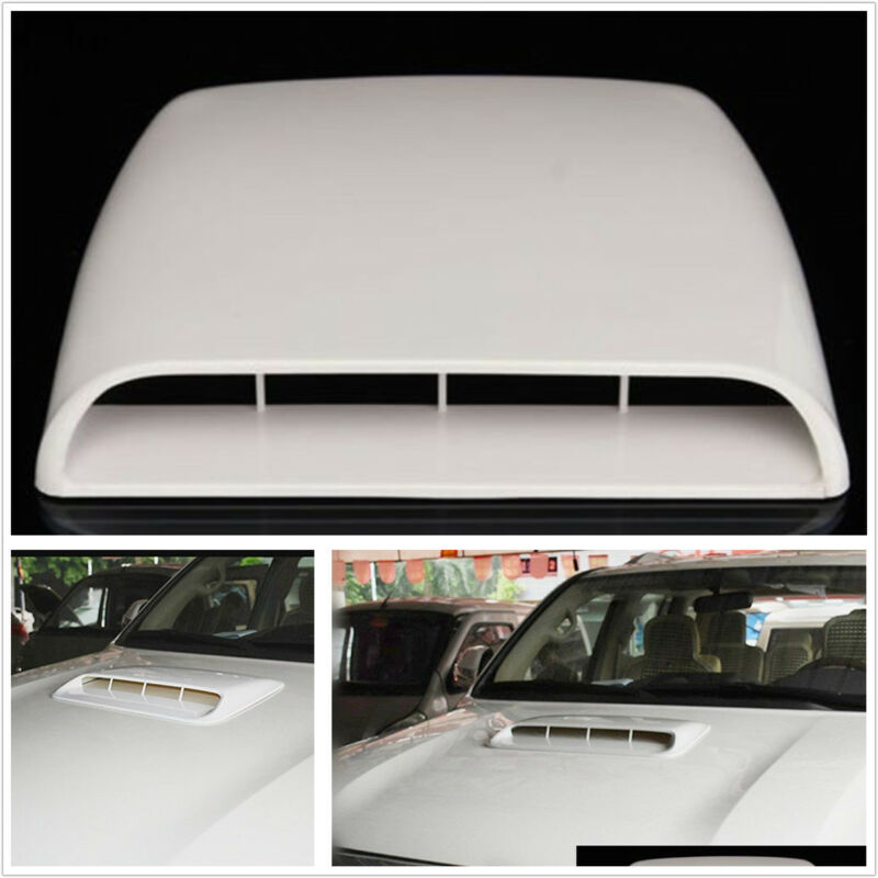 3D Car SUV Pickup Decorative Simulation Air Flow Intake Front Hood Scoop Vent