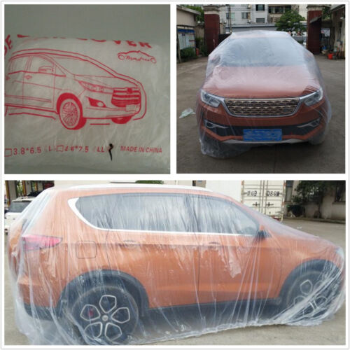 Large Size Transparent Plastic Car SUV Temporary Disposable Rain Cover Universal