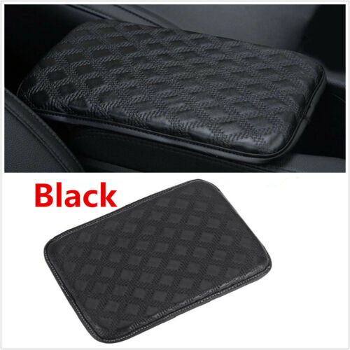 Black Leather Car Armrest Pad Covers Console Auto Armrest Protection Cushion Mat