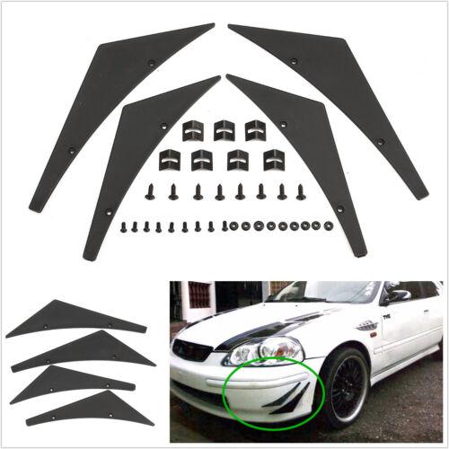4 Pcs Car Off-Road Front Bumper Lip Splitter Fins Body Spoiler Canards Valence