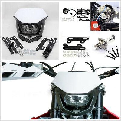 New 12V 35W H4 Headlight Motorcycle Dirt Bike Ghost Face Headlamp Kit Universal