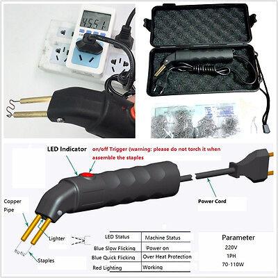 DIY Car Off-Road Bumper Welder Gun Stapler Plastic Repair Kit & 500 Pcs