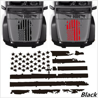 Black USA Flag Style Decal Vinyl Sticker Decal Accessories For Car Hood Window (Rebel Flag Accessories)