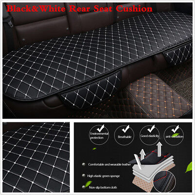 Used, 1XRear Seat Cushion Black White Car Cushion PU Leather Auto Interior Accessories for sale  China
