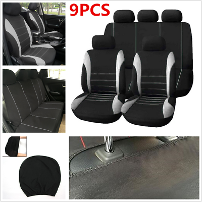9Pcs Set Car Seat Covers Car Styling Seat Cover For Autos Interior Acc