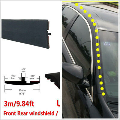 Universal Car Front Rear soundproofing window seal trip Trim 10ft3m All Weather