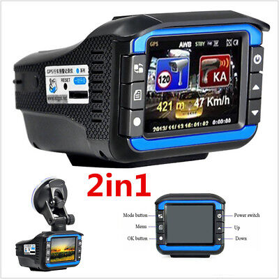 New 2'' HD 120° Car Video Camera Recorder Dash Cam +Radar Speed Detector DVR