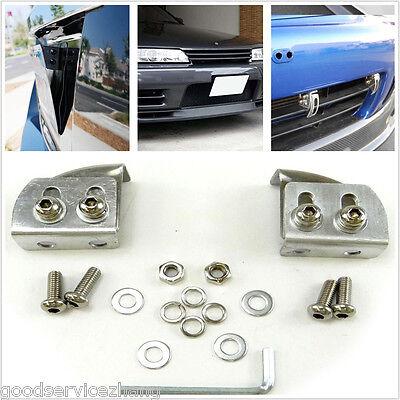 Gunmetal Aluminum Offset Bumper License Plate Mounting Bracket Plate for Ford
