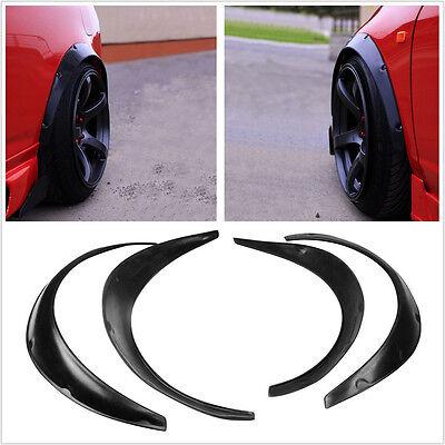 4Xhigh Quality Flexible Black Polyurethane Car Automobile Exterior Fender Flares