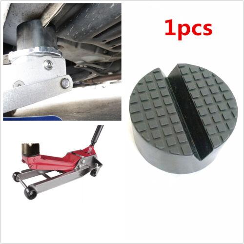 Black 1Pcs Car SUV Slotted Rubber Jack Pad Frame Rail Pinch Weld JACKPAD Adapter