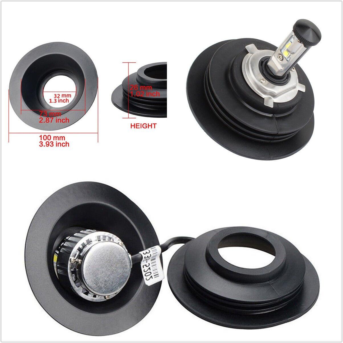 2x Waterproof Housing Seal Cap Headlight Anti Dust Cover For HID bulb Headlight