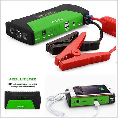 16800mAh Portable Jump Starter Car Battery Charger Power Bank LED Light GREEN