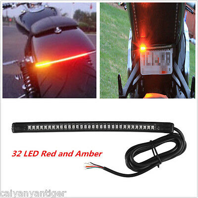 Motorcycle 32SMD Universal LED Brake Tail Light Stop Turn Signal Lamp For Harley