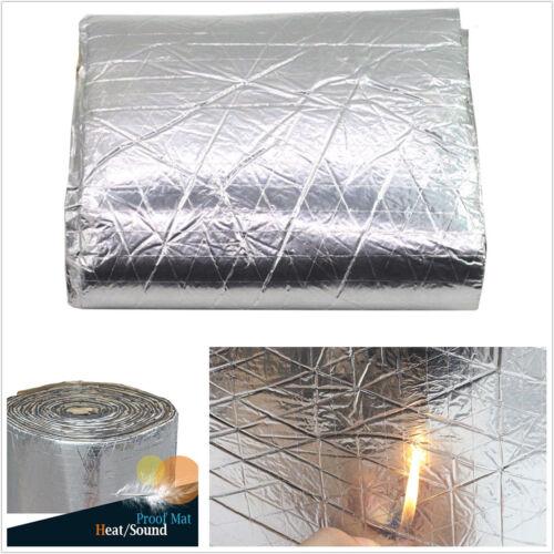 98.43''×39.37'' Car Firewall Sound Deadener Heat Shield Insulation Aluminum Foil