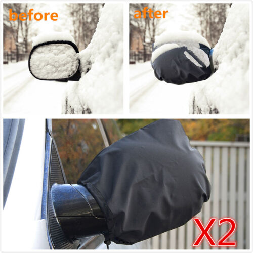 2 Pcs Car Side Mirror Snow Covers Set - Protect Auto Exterior Rear View Mirrors