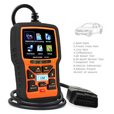 NT301 CAN OBDII EOBD Car Engine Diagnostic Scan Tool OBD2 Code Reader 28 TFT