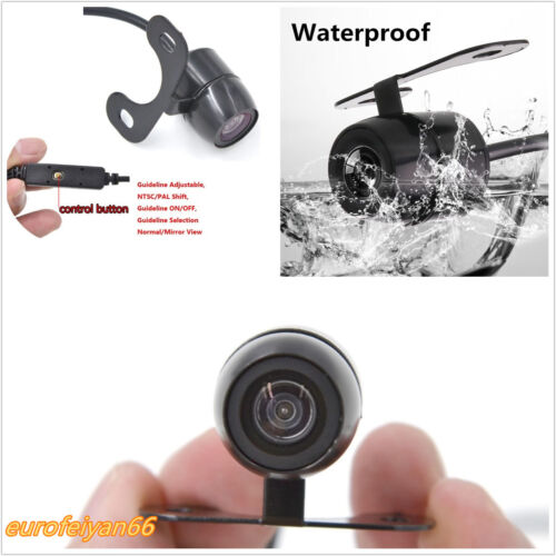 Waterproof Angle Adjustable 480TV Car Reverse Backup CCD Camera Button Control