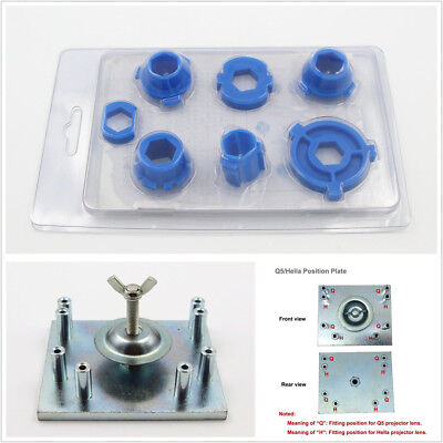 Headlight Retrofit Tool 78Mounting Mould + 1XMouting Plate For Q5 Projector Lens