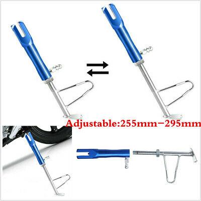 UNIVERSAL BLUE CNC MOTORCYCLE SCOOTER KICKSTAND SIDE STAND ADJUSTABLE