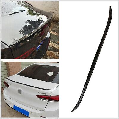 4.1ft PU Car Rear Lip Spoiler Wing Tail Trunk Roof Bonnet Trim Sticker Universal