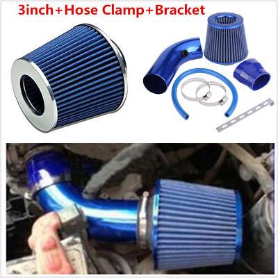 Oil High Flow Air Filter Kit Blue Mesh Short Ram Cold Intake Turbo Cone Racing