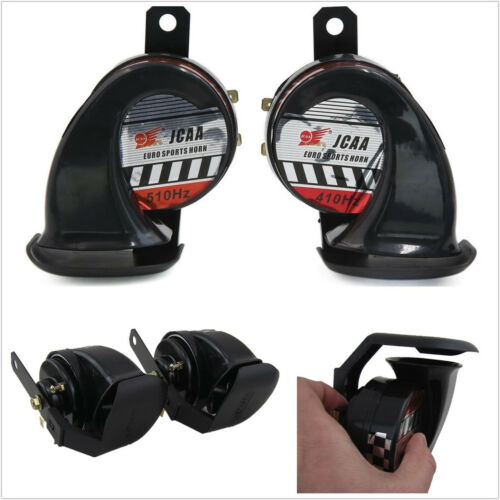 100% Waterproof Black 510Hz 12V 110DB Car Off-Road Super Loud Snail Horn Speaker