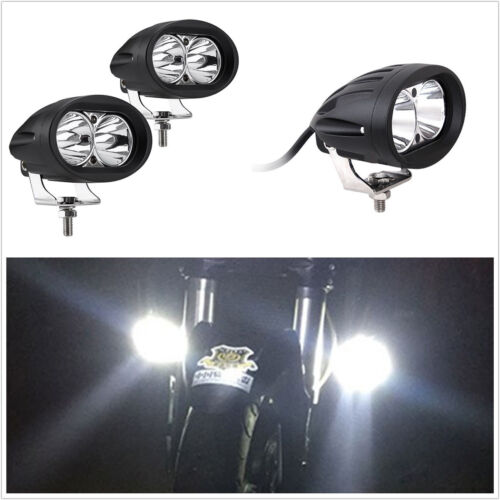 2 Pcs High Power 20W CREE LED White Car Truck Driving Fog Lights Spot Lamps DRL