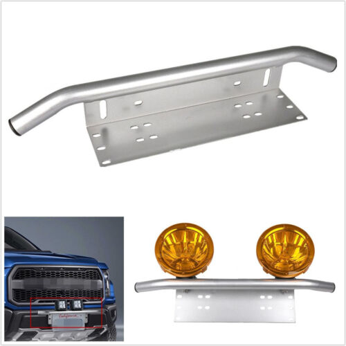 Stainless Steel Silver Car SUV 4WD Front Bumper Fog Light DRL Bracket Holder Kit