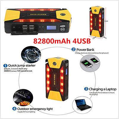 Highpower 82800mAh Car Jump Starter Booster Charger Power Bank Emergency Battery