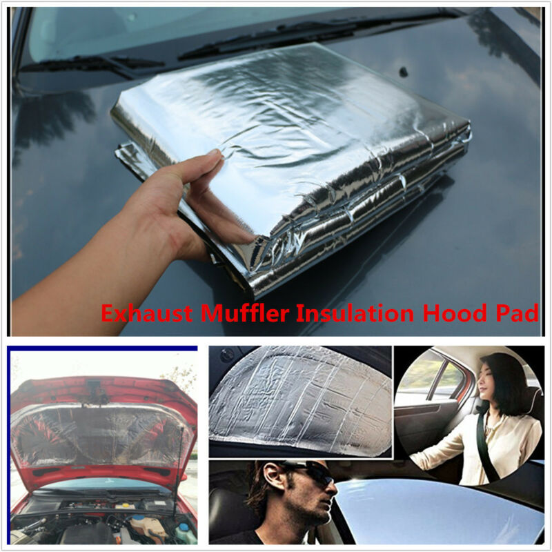 HOT Car Turbo Exhaust Muffler Insulation Heat Shield Mat 100cm x 140cm x 0.5cm