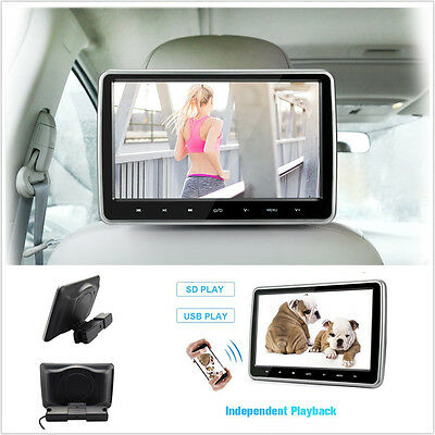 10'' 1024*600 Car Headrest Monitor DVD Player USB/SD/HDMI/FM/Game Touch Button