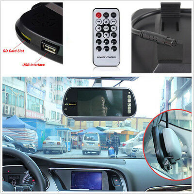 16:9 HD USB SD Bluetooth MP5 7inch TFT LCD Color FM Car Rear View Mirror Monitor