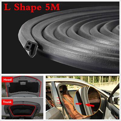 - 5M L Shape Car Door Hood Trunk Trim Edge Moulding Rubber Weatherstrip Seal Strip