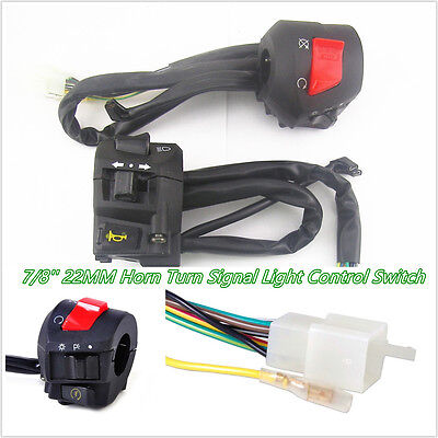 2 X DC12V MULTIFUNCTION 78 22MM MOTORCYCLE CONTROL SWITCH FOR HORN