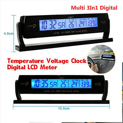 car auto voltage digital monitor battery alarm clock lcd temperature thermometer in cn other. Black Bedroom Furniture Sets. Home Design Ideas