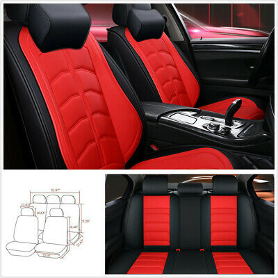 5-Seats Deluxe Edition Surround PU Leather Car Seat Covers Cushions Breathable