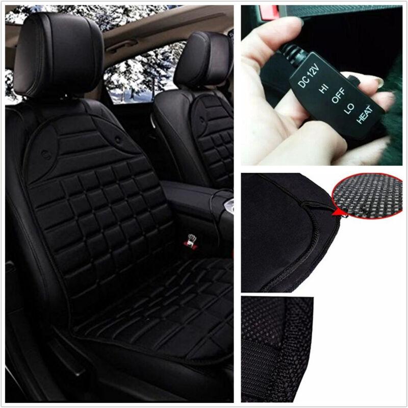1 Pcs Black 12V Car Front Seat Heater Heated Pad Heating Cushion Massage Mat Pad