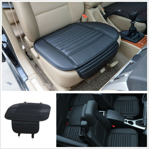 Black Bamboo Charcoal & PU Breathable Autos Automobile Seat Pillow Cushion Mat