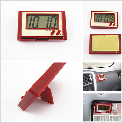 12/24 Hr Time Display Switch Time &Date RED Shell Car Electronic Digital Clock S