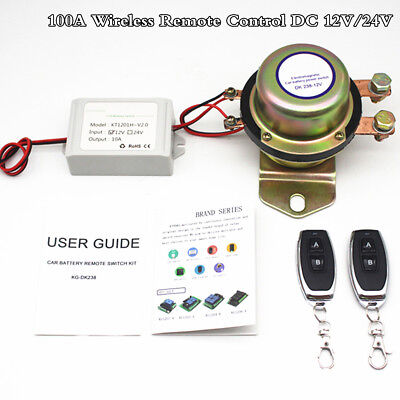 12V Car Auto Remote Control Battery Switch Wireless Disconnect Power Master Kill