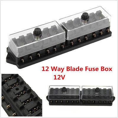 12V 12 Way Car Boat Auto Automotive Blade Fuse Box Block Holder ATC ATO Circuit