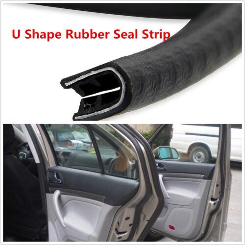 High Quality Rubber U-Style Car Seal Strip Door Edge Pinchweld Trim Steel Insert