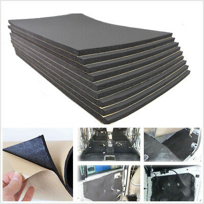 9 Sheets 30X50cm Car RoofDoor Sound Proofing Deadening Insulation Cell Foam 6mm