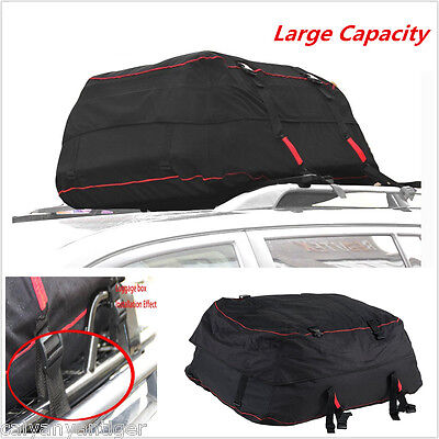 Car SUV Waterproof Roof Top Carrier Bag Rack Storage Luggage Car Rooftop Travel