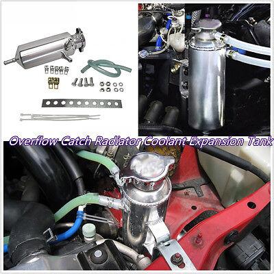 Pro 350ml Car Off-Road Overflow Radiator Aluminium Coolant Tank Bottle Reservoir