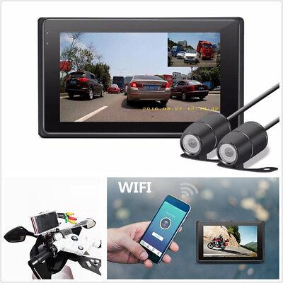 140 Degree Waterproof 3.0'' Real Full HD Wifi Motorcycle DVR GPS Video Recorder