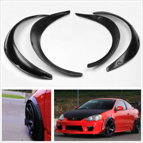 Universal 4pcs JDM Fender Wheel Arches Flare extension flares wide Polyurethane
