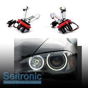 H8 LED Angel Eyes Standlicht für BMW E60 E61 E71 E70 LCI E90 E91 X5 X6 Z4 E92 X1